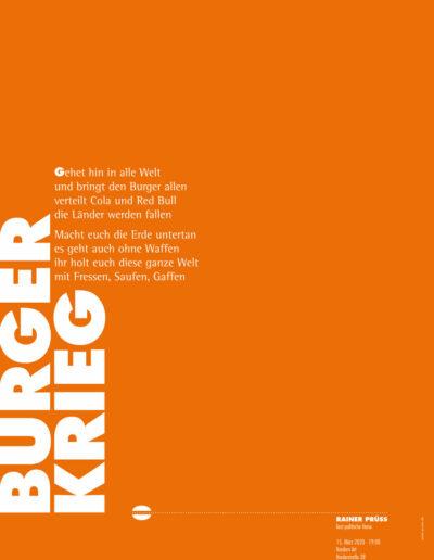 BURGER Lesung Poster 2020