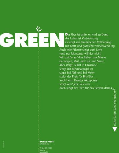 GREEN Lesung Poster 2020