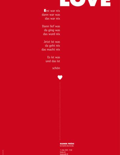LOVE Lesung Poster 2020
