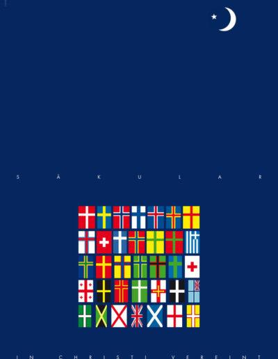 Säkular Flaggen Poster 2014