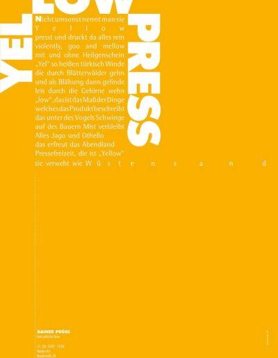 YELLOW Lesung Poster 2020