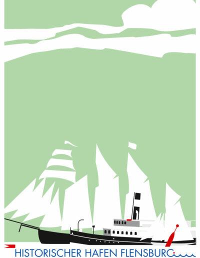 Historischer Hafen Poster 2009