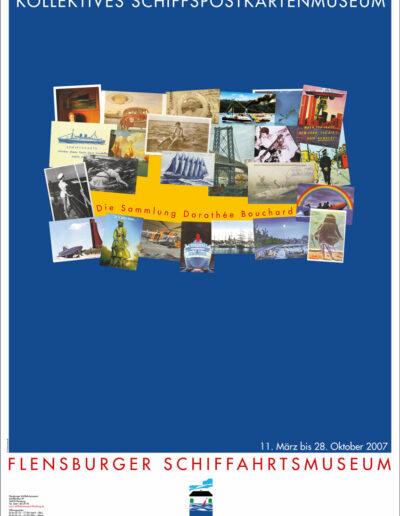 Kollektives Schiffspostkartenmuseum Plakat 2007